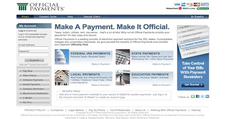 Offical Payments by Official Payments Login Officialpayments