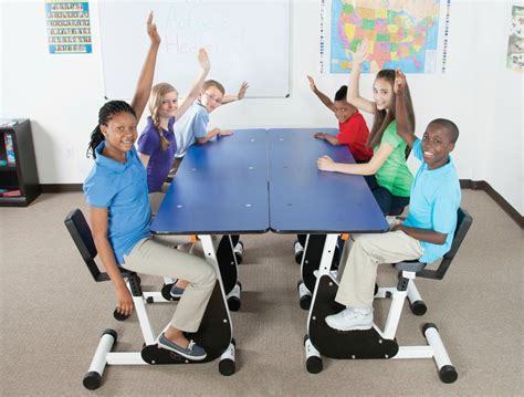 kinesthetic classroom pedal desks six person pedal desk kids in harmony store
