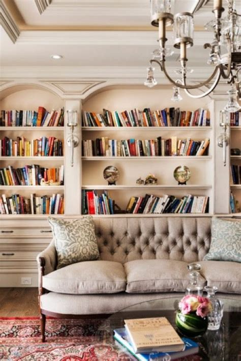Home Library Living Room Design 20 Wonderful Home Library Ideas