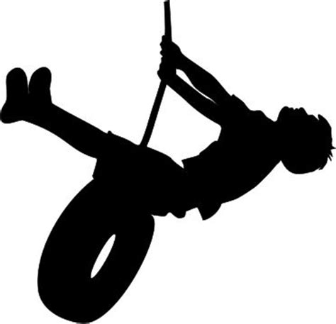 swing silhouette the lady wolf boy swinging on tire silhouette svg