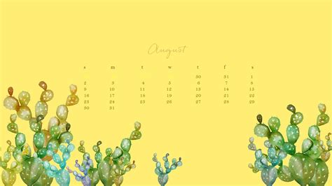 During My Recent Trip To California I Did Somethi by Free August Watercolor Desktop Calendar