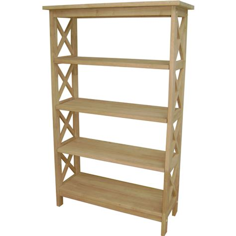 shelves x sided 4 tier bookcase by international