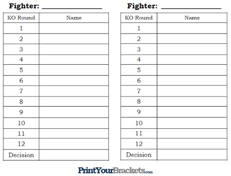 match card template boxing printable boxing office pool 10 line box pool