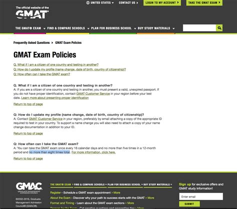 Mba Test Dates 2017 by Gmac Announces A Lifetime Limit Of 8 Gmat Exams General