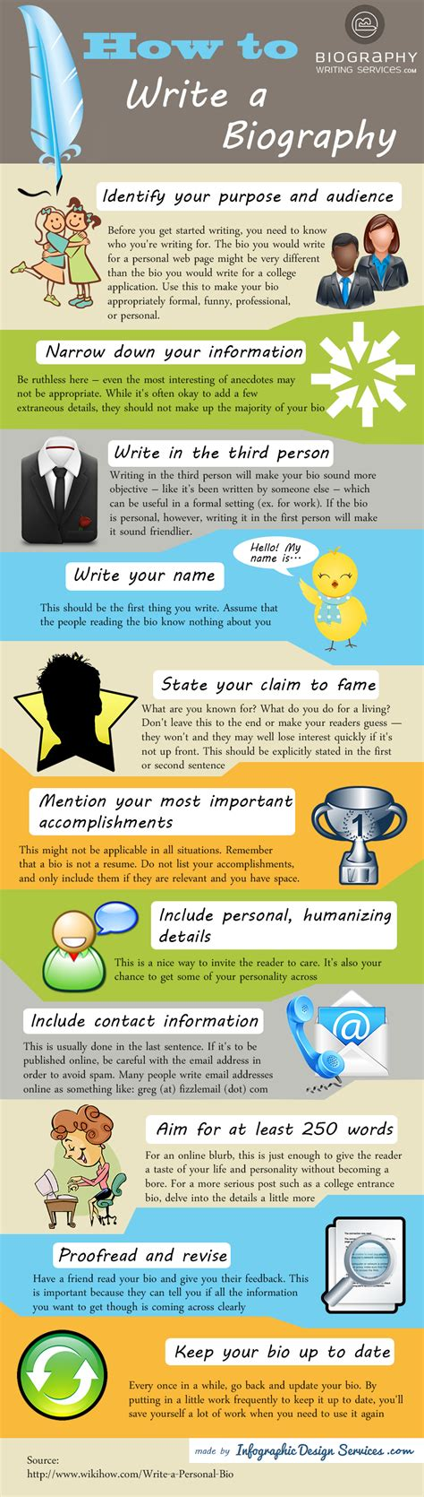infographic for biography tips on writing a biography ucollect infographics