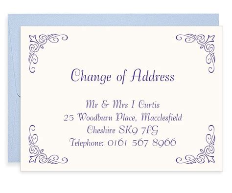 corner fleur letterpress change of address cards blush 176 176