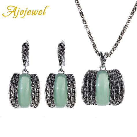 Limited Kalung Korea Pearl Green Weave With Cz Alloy Korean model jewellery promotion shop for promotional model