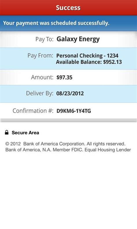 mobile bank transfer bank of america android app adds paypal style money