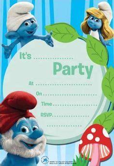 smurf invitation templates smurfs lost cupcake toppers smurfs free