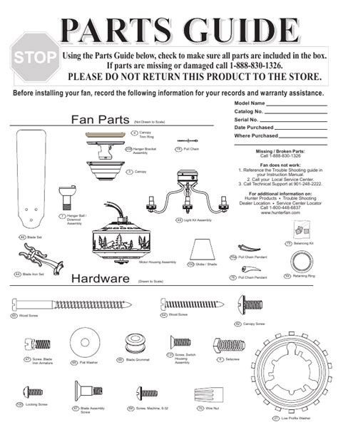 ceiling fan parts list cieling fan parts