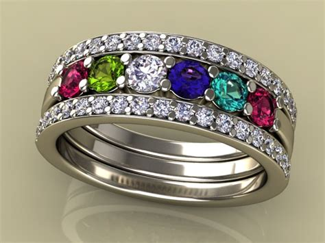 mothers rings in gold platinum free shipping