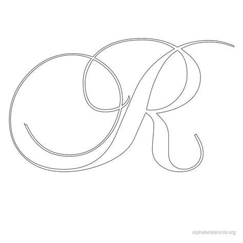 printable calligraphy stencils print free alphabet stencils calligraphy r calligraphy