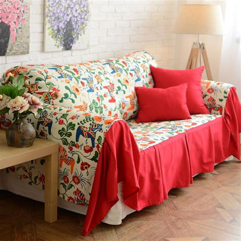 colorful sofa covers modern style colorful pony floral pattern decorative sofa