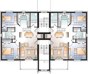 Multifamily Floor Plans by Multi Family Plan 65533 At Familyhomeplans Com