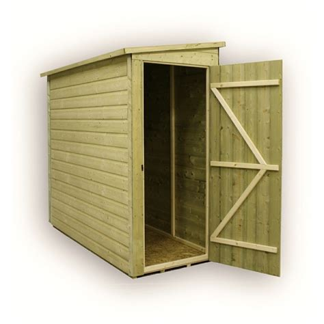 3x7 Storage Shed by 3 X 7 Windowless Pressure Treated Tongue And Groove Pent