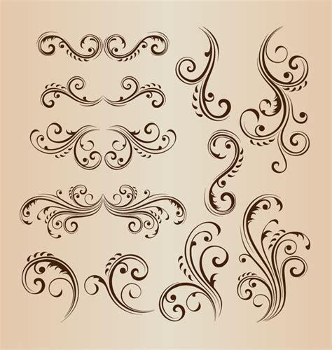 svg pattern style vintage swirl