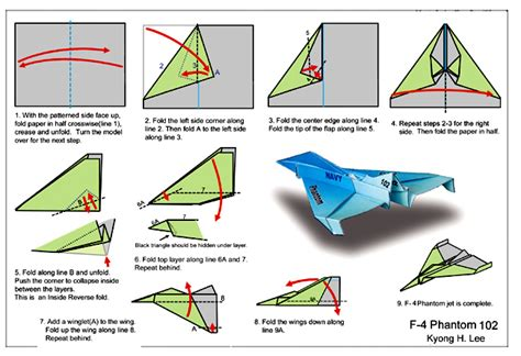 How To Make A Paper Jet Fighter Step By Step - f 4phantominst