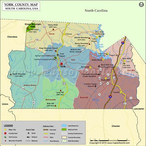 map of york county sc york county map south carolina