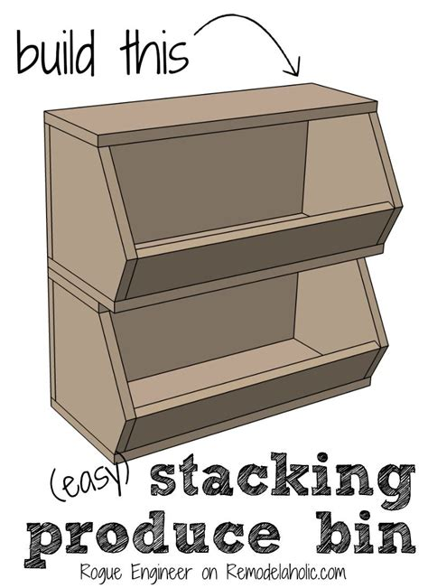 Stackable Fruit And Vegetable Crates Diy Pottery Barn Easy Building Plan Organize Your Produce With This