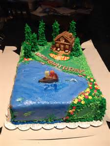 cabin on the lake cake by renee brown cakes