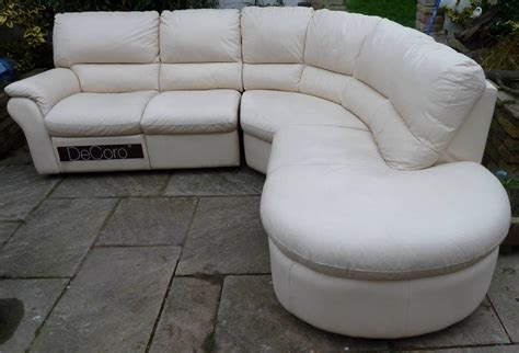 Leather Chaise End Sofa Leather Decoro Corner Chaise End Sofa Ebay