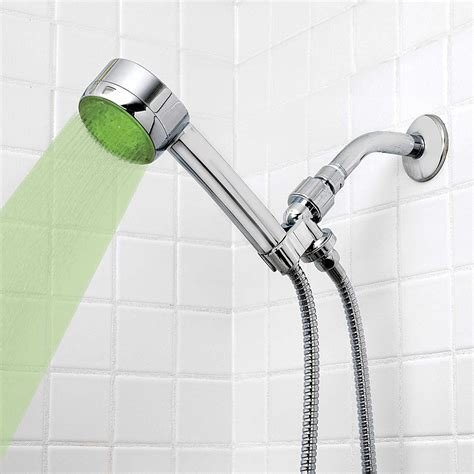 color changing shower healthsmart lumatemp led color changing shower