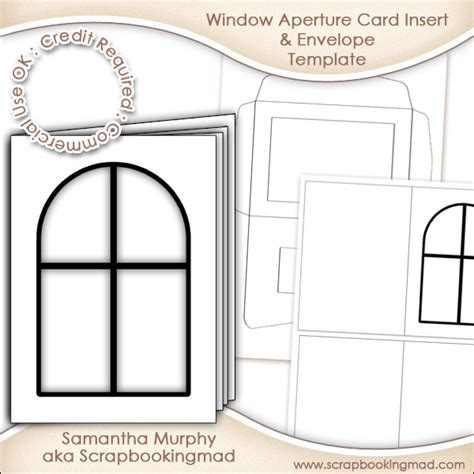 Window Aperture Card Insert Envelope Commercial Use Ok 163 3 00 Scrapbookingmad Com Product Insert Card Template