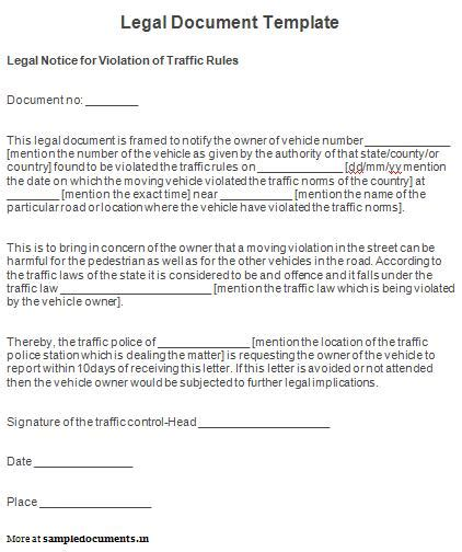 legal document template sle legal document template