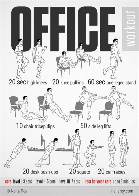 Desk Exercises For Abs by 25 Best Ideas About Office Workouts On