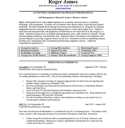 business resume sle free resume template professional business resume format