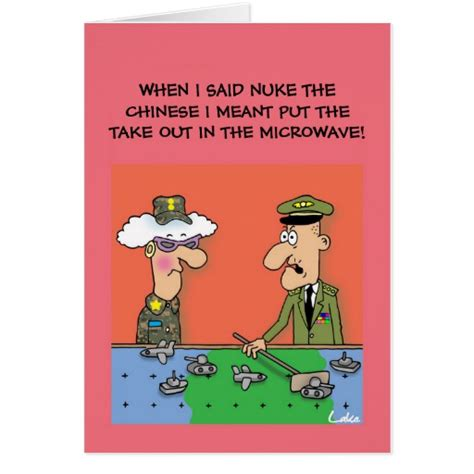 printable military greeting cards funny military cartoon personalized greeting card zazzle