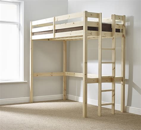 Small High Sleeper by 2ft 6 Small Single Heavy Duty Solid Pine High