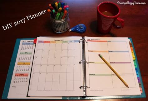 4 best images of make your own planner printables make diy 2017 calendar planner