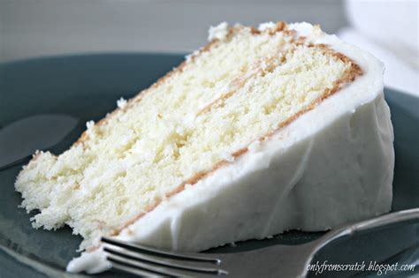 only from scratch simple layer cake with vanilla frosting from martha stewart