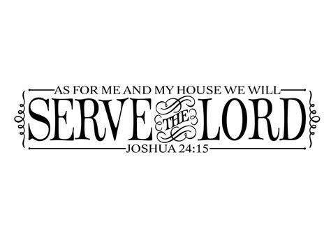 as for me and my house verse bible verse vinyl wall decal as for me and my house by wallartsy