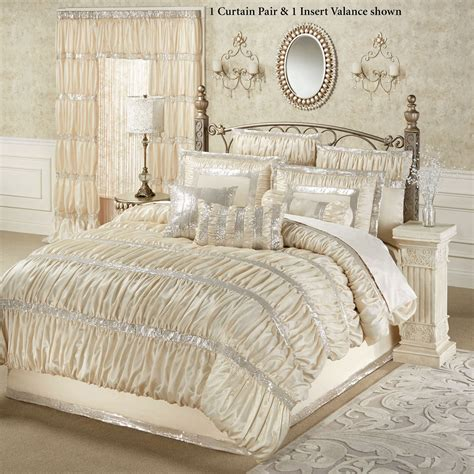 silk comforters radiance shirred faux silk comforter bedding