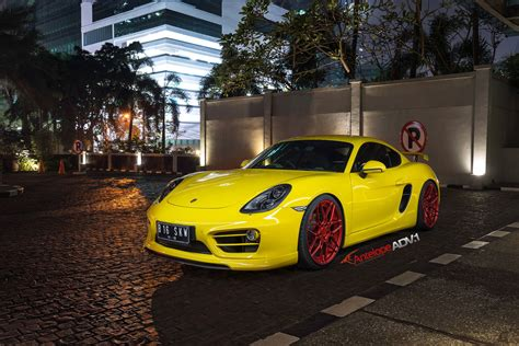 porsche custom paint porsche cayman s adv7 m v2 cs polished red w matte clear