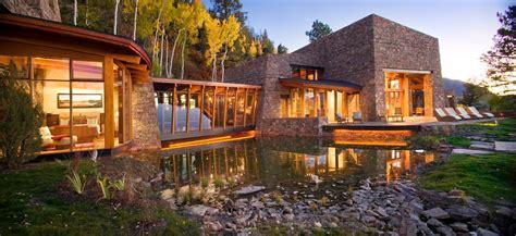 modern mountain home exterior contemporary  custom