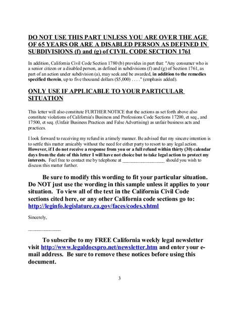 Demand Letter Alberta Template Free Sle Demand Letter Consumer Remedies Act For Calif
