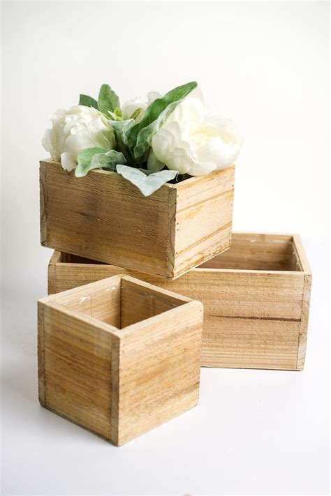 Lining A Wooden Planter Box by Handmade Wood Planter Boxes With Liner 4x5x10in