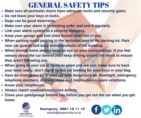 general safety tips dunvegan security