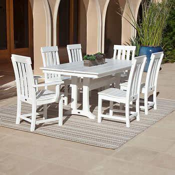 Prescott Patio Furniture by Prescott 7 Dining Set By Polywood