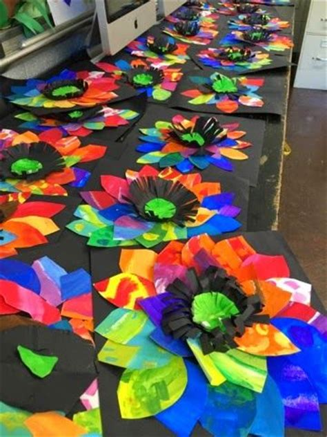 pattern art activities grade 2 color it like you mean it painted paper flowers 2nd