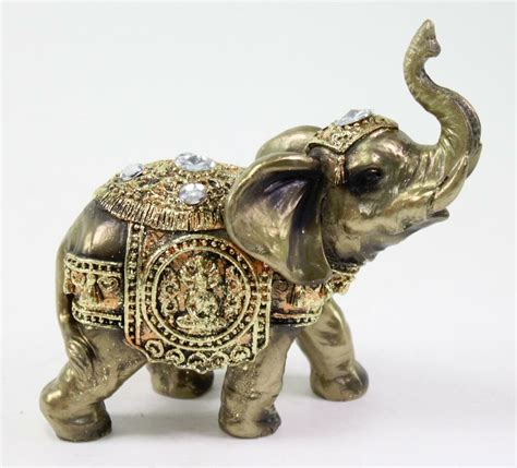elephant home decor feng shui 5 quot bronze elephant trunk statue wealth lucky