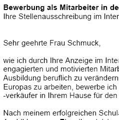 Bewerbungsschreiben Verk Uferin Baumarkt bewerbung baumarktfachberater baumarktverk 228 ufer