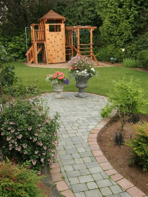 backyard play area landscaping play area and garden kids play area pinterest