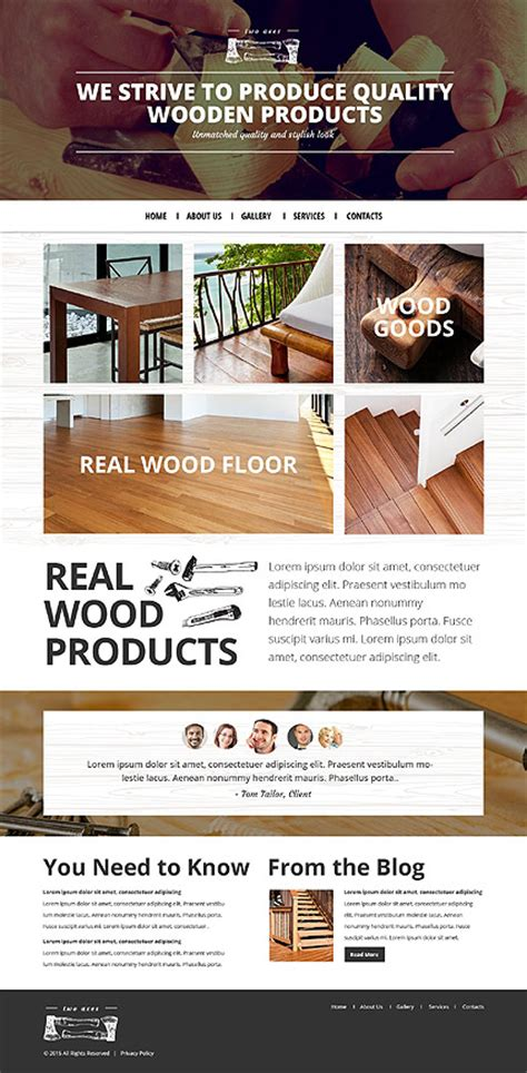 woodworkers web template 53442 ensegna themes