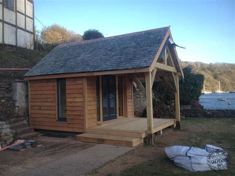Solutions For Amazing Ideas by Slate Roof And Lrch Cladding On New Self Build Summerhouse