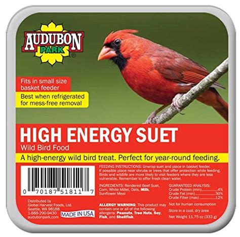 audubon park hummingbird food rating audubon park 1845 high energy suet cake bird food 11 75 ounces bird food patio and