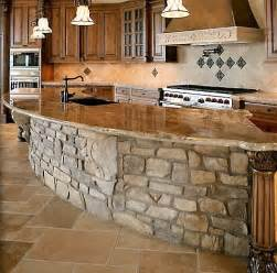 Stone Island Kitchen stunning stone kitchen island log cabin decor